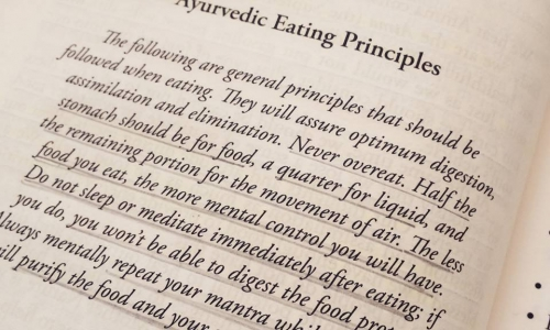 Ayurvedic Principles on Food